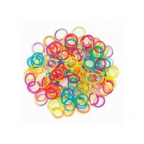 Elastike za izdelavo zapestnic, Bracelet Loops, mix transparentne