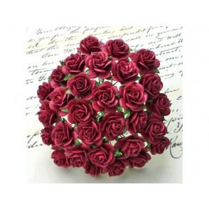 Odprte vrtnice, vinsko rdeče