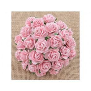 Odprte vrtnice, nežno roza