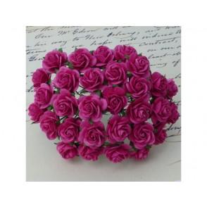 Odprte vrtnice, temno roza
