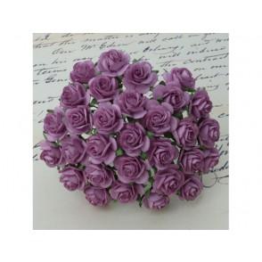 Odprte vrtnice, temno lila