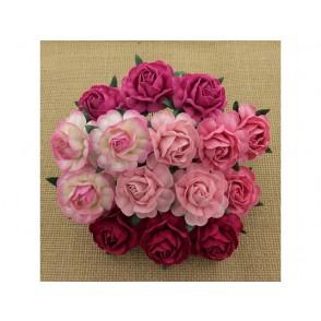 Čajne vrtnice, mix roza