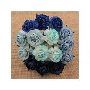 Čajne vrtnice, mix modra