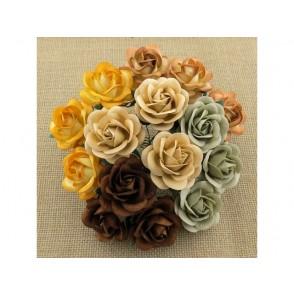 Odprte vrtnice, mix zemeljski toni