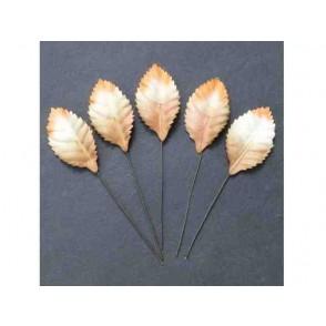 Papirnato listje, belo/oranžno/rjavo