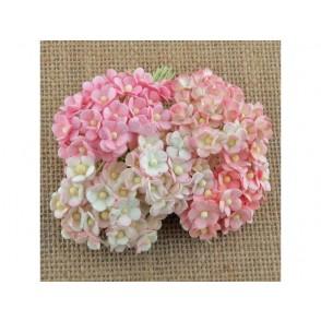 Srčkasti cvetovi, mini, roza mix