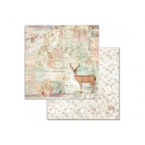 Papir, Deer, Pink Christmas
