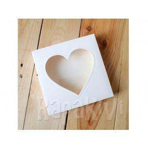 Osnova za škatlico z odprtino, srce, 300 g