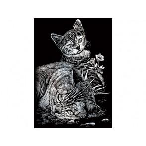 Praskanka, Silver, Tabby cat & kitten mini