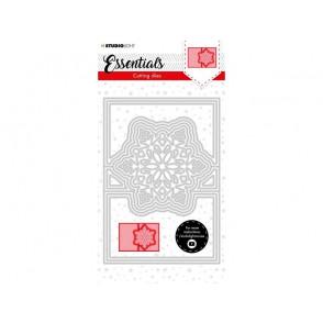 Rezalna šablona, Christmas Card shape mini Snowflakes