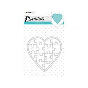 Rezalna šablona, Essentials, Puzzle heart št.74