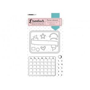 Rezalna šablona in štampiljka, Planner Monthly calendar št.01