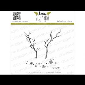 Štampiljka, Branch and snowflakes 2