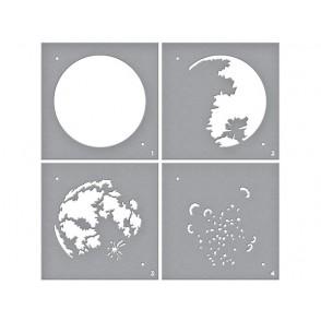 Plastična šablona, Layered Full Moon