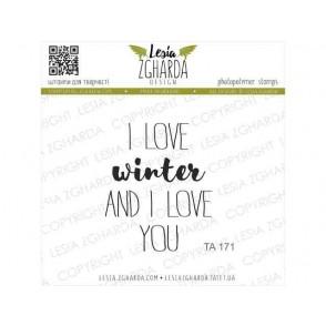 Štampiljka, I love winter and I love you
