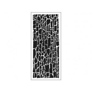 Plastična šablona, Slimline, Rock wall