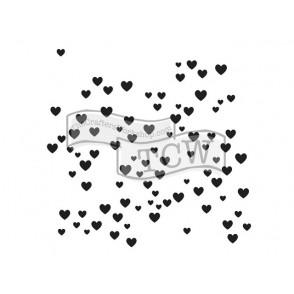 Plastična šablona, Micro Hearts