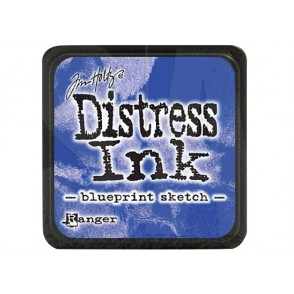 Barvna blazinica, Distress Mini Ink, Blueprint Sketch
