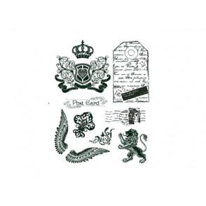 Štampiljka, Crown, Lion, Wings