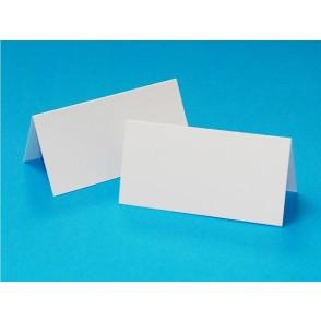 Namizne kartice za sedežni red, bele