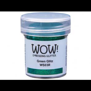 Embossing prah, glitter, Green Glitz