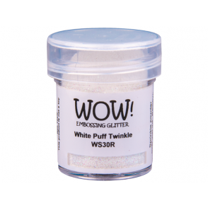 Embossing prah, glitter, White Puff Twinkle