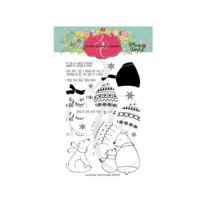Štampiljka, Whimsy World, Layering Sweater Bears