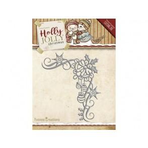 Rezalna šablona, Holly Jolly, Christmas decoration