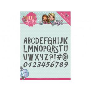 Rezalna šablona, Sweet Girls, Lovely Alphabet