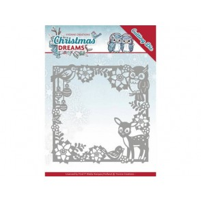 Rezalna šablona, Christmas Dreams, Christmas animal frame
