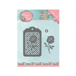 Rezalna šablona, Flowers with a Twist, Rose label