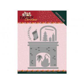 Rezalna šablona, Family Christmas, Fireplace