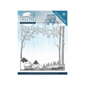 Rezalna šablona, Sparkling Winter, Winter landscape