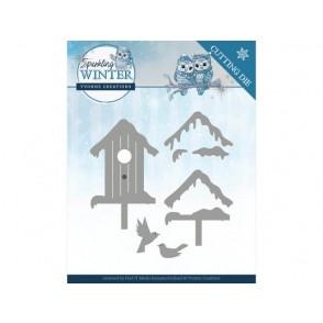 Rezalna šablona, Sparkling Winter, Winter birdhouse