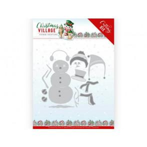 Rezalna šablona, Christmas Village, Build Up Snowman