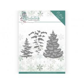 Rezalna šablona, Winter Time, Pine Tree