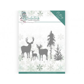 Rezalna šablona, Winter Time, Deer in the Forest