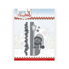 Rezalna šablona, Wintery Christmas, Peek a Boo Snowman