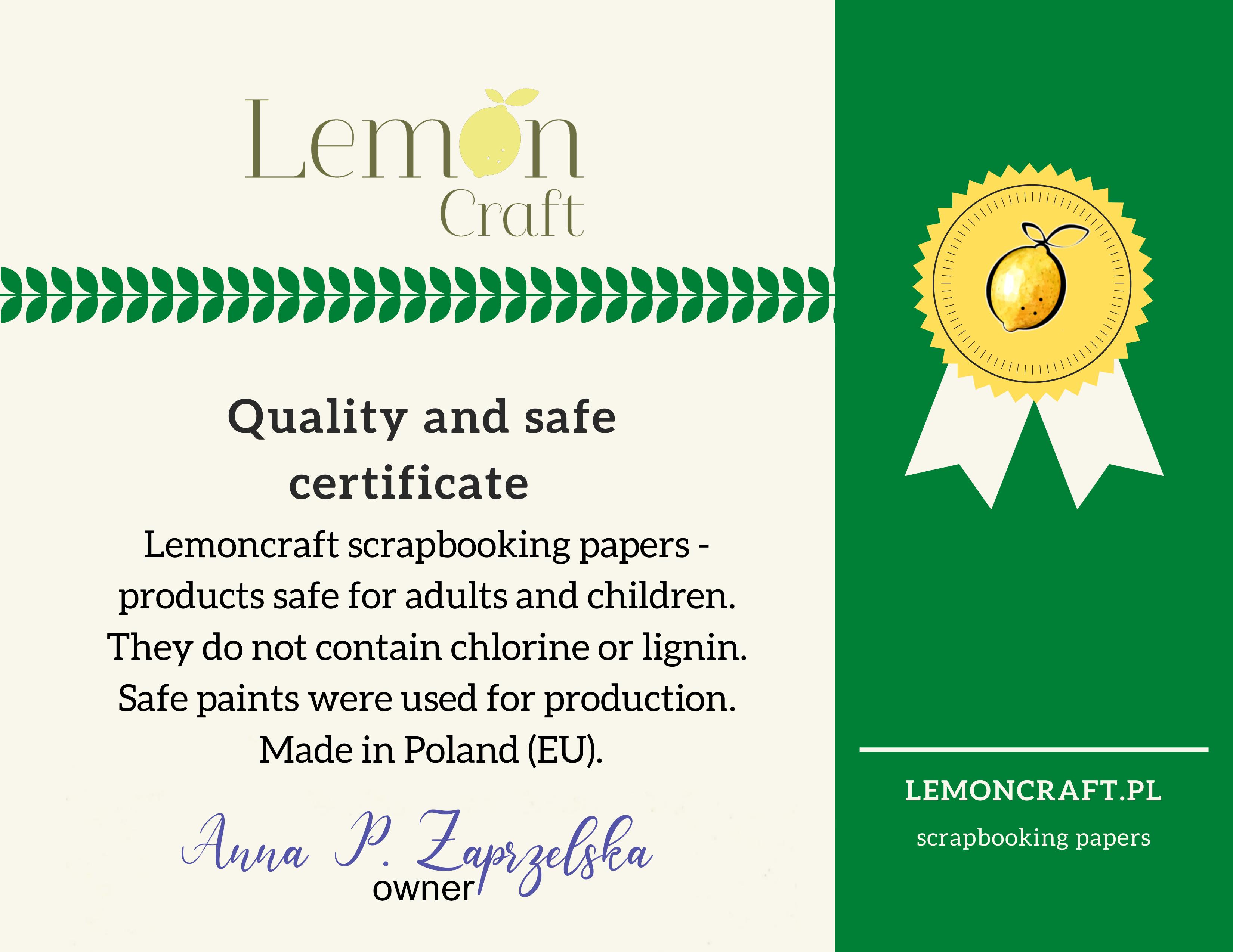 LemonCraft certifikat