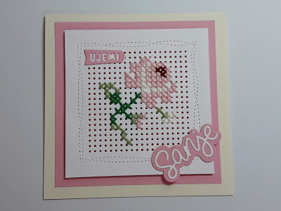 Vrtnica - križkanje ali Cross Stitch