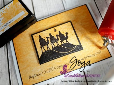 Lavinia Stamp - uporaba valjčka - Goga