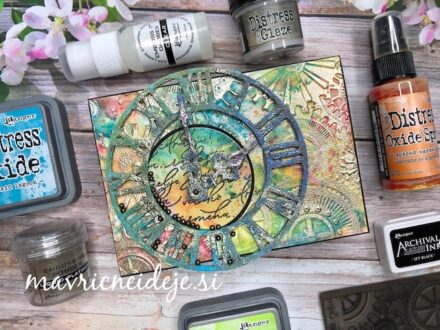 SIZZIX - bigz timekeeper mixed media