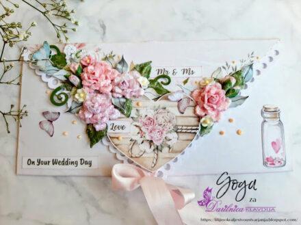 58. izziv FB Papirčkarice – poroka - darilna kuverta
