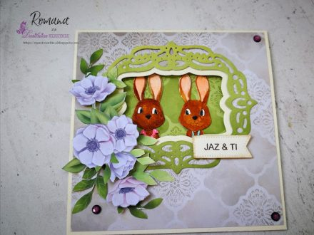 CRAFT PASSION - dva zajčka - Romana